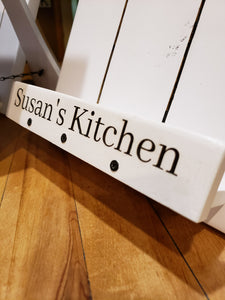 White Modern Farmhouse Cookbook Stand
