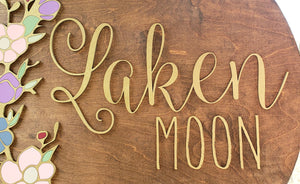 "The ""Laken"" Round Name Sign"