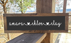 Name Sign With Hearts