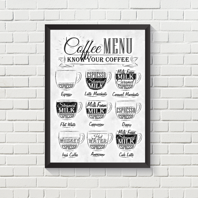 Coffee Menu White