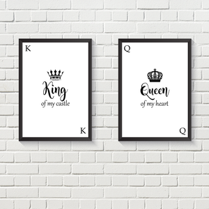King & Queen Card Set