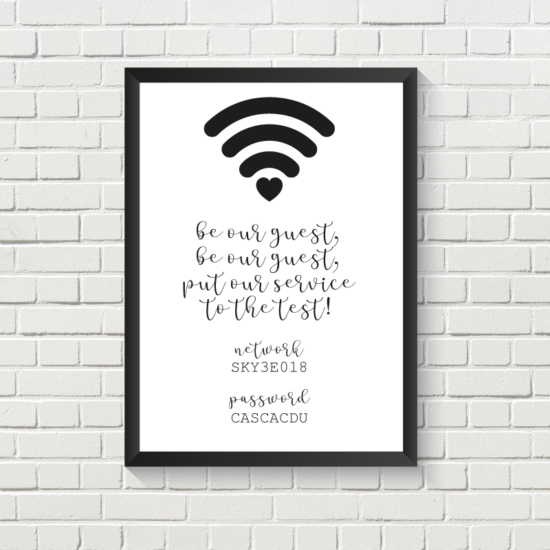 Be Our Guest Wifi