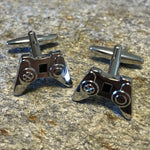 Silver Video Game Controller Cufflinks