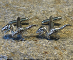 Silver Raptor Skeleton Cufflinks