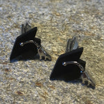Black and Silver Graduation Cap Cufflinks