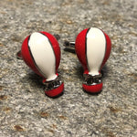 Red and White Hot Air Balloon Cufflinks