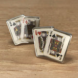 King Playing Card Cufflinks