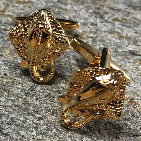 Gold Stingray Cufflinks