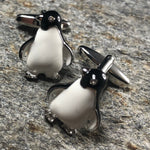 Silver Penguin with Crystal Eyes Cufflinks