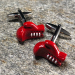 Red Boxing Gloves with White Laces Cufflinks