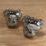 Silver Bulldog Head Cufflinks