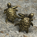 Brass Colored Turtle Cufflinks