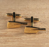 Gold Oar Blade Cufflinks