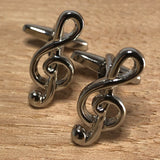 Silver Treble Clef Cufflinks