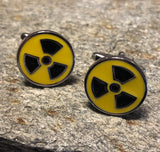 Yellow and Black Radioactive Symbol Cufflinks