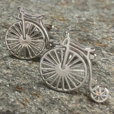 Penny Farthing Bicycle Cufflinks
