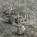 Silver Stag Head Cufflinks
