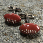Brown 3D Rugby Ball Cufflinks