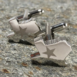 Silver State of Texas Outline Cufflinks