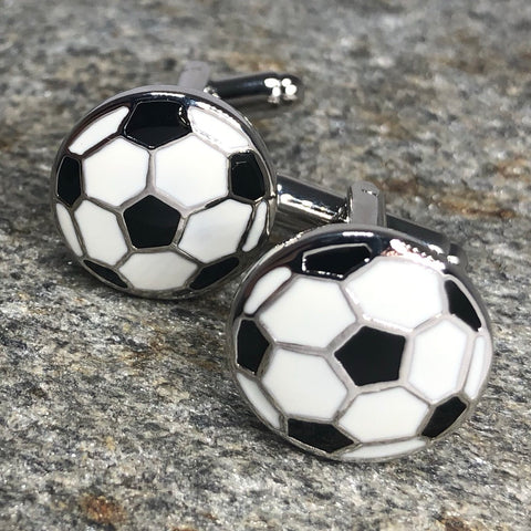 White Soccer Ball Cufflinks