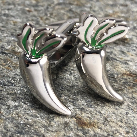 Silver Chili Pepper Cufflinks