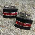 Black And Red Cufflinks Cufflinks