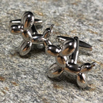 Silver Balloon Dog Cufflinks