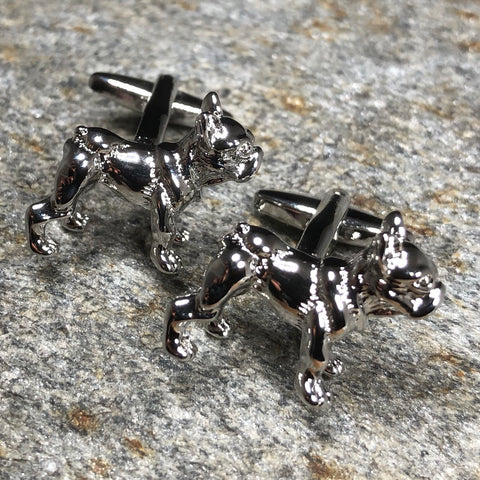 Silver French Bulldog Cufflinks