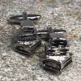 Silver Stack of Books Cufflinks