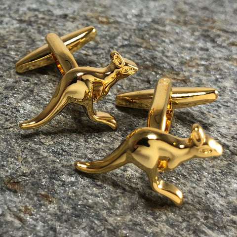 Gold Kangaroo Cufflinks