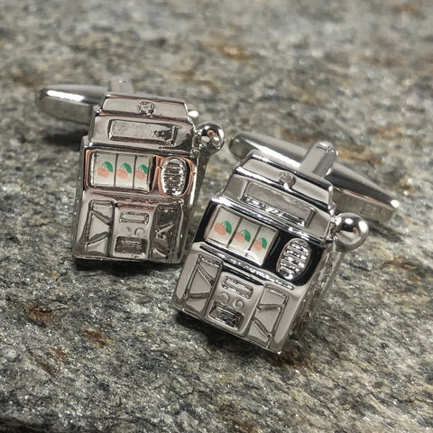 Silver Slot Machine Cufflinks