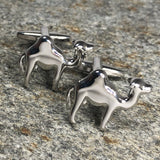 Silver Single Hump Camel Cufflinks