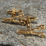 Gold Scissors Cufflinks