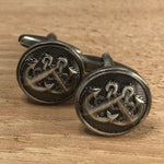 Silver Crossed Anchor Cufflinks