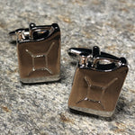 Silver Gas Can Cufflinks