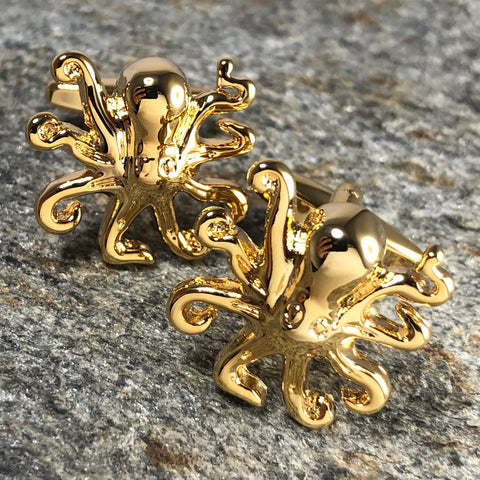 Gold Octopus Cufflinks