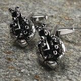 Silver Anatomical Heart Cufflinks