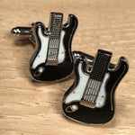 Black and White Guitar Cufflinks