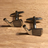 Silver Golf Club Driving Head Cufflinks