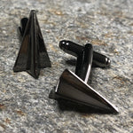 Black Paper Airplane Cufflinks