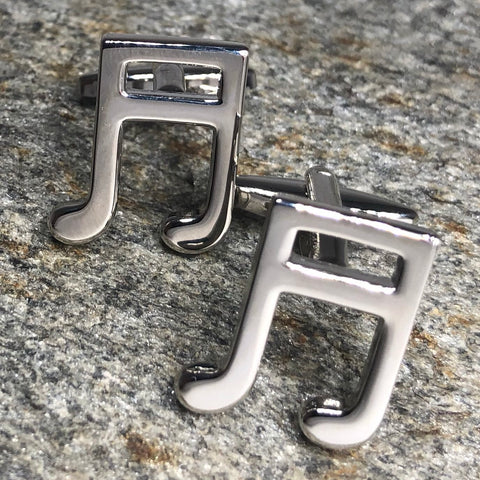 Silver 16th Note Music Cufflinks