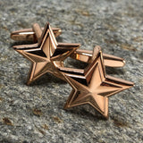 Rose Gold Five Pointed Star Cufflinks