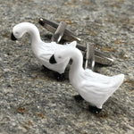White and Black Geese Cufflinks
