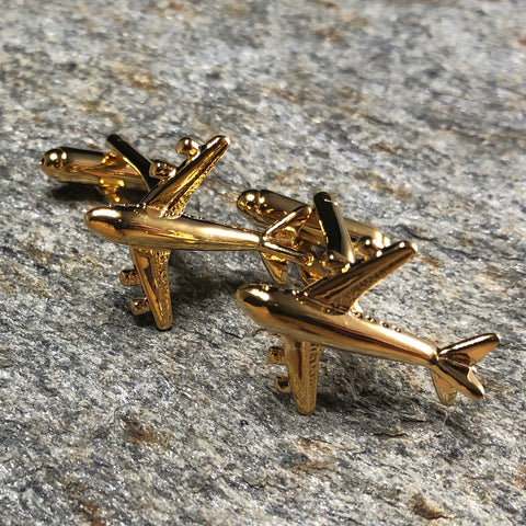 Gold Airliner Cufflinks