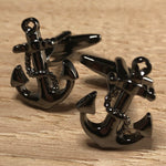 Black Anchor Wrapped with Rope Cufflinks
