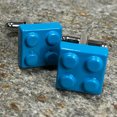 Light Blue Brick Cufflinks