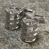 Oil Barrel Cufflinks