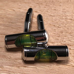 Green and Silver Level Cufflinks