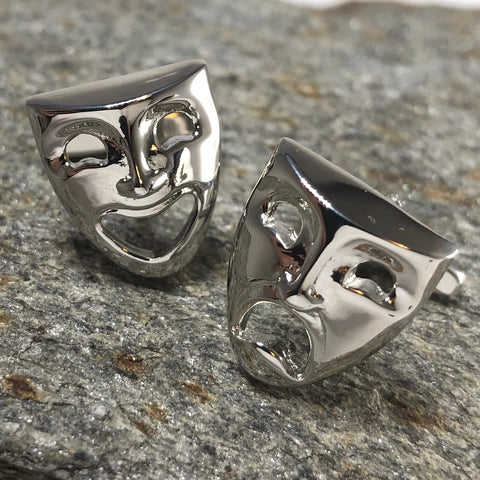 Comedy and Tragedy Mask Cufflinks