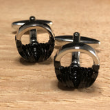 Black and Silver Headphone Cufflinks